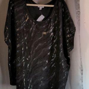 Black sequin top size 3X